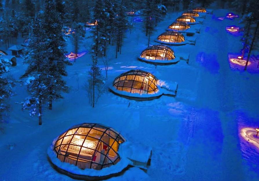 glass igloo house