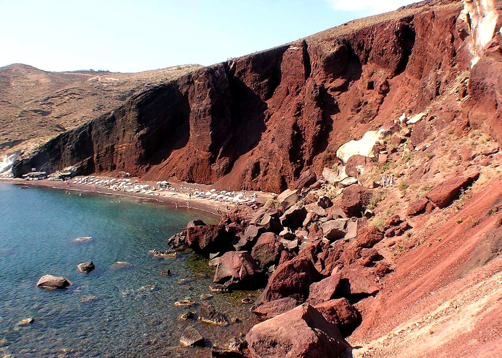 Red Sand Beach Santorini